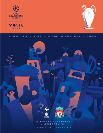2019 UEFA Champions League Final Liverpool v Tottenham  - official match programme + FREE poster